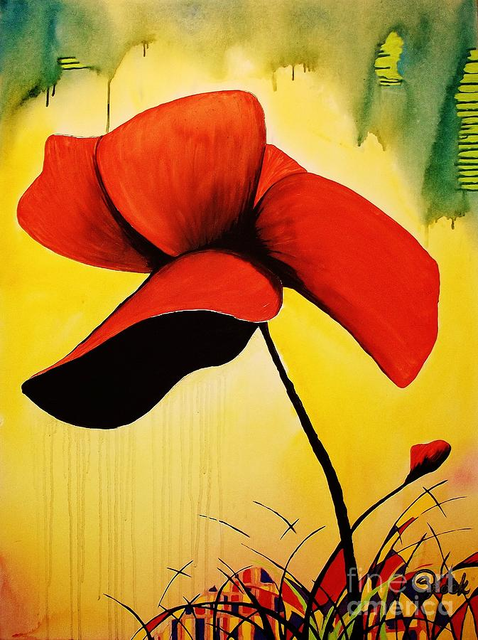American Poppy Painting
