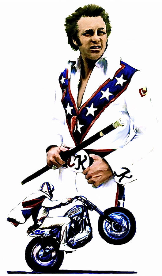 American Roulette  Evel Knievel Painting