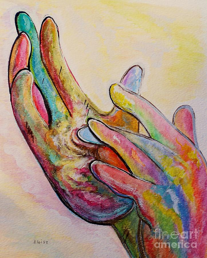 American Sign Language Jesus Painting  - American Sign Language Jesus Fine Art Print
