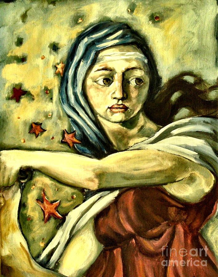 America Painting - American Sybil by Carrie Joy Byrnes