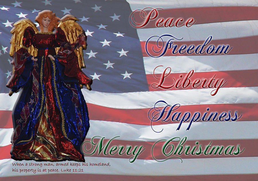 Luke 11:21 Photograph - Americana Military Christmas 1 by Robyn Stacey