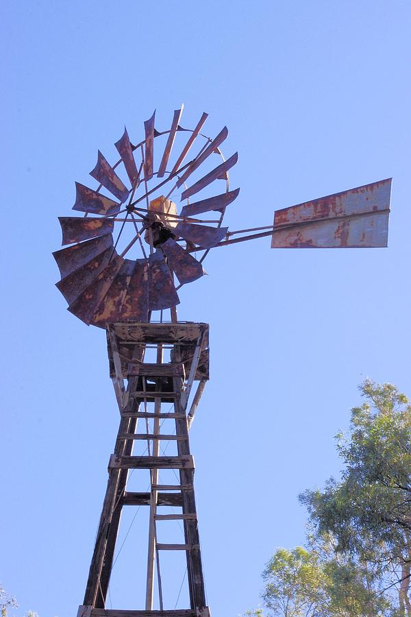 Windmill Photograph - Americana Power by David Rizzo