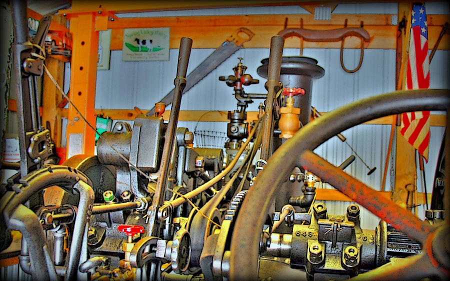 Americana Steam Engine Photograph  - Americana Steam Engine Fine Art Print