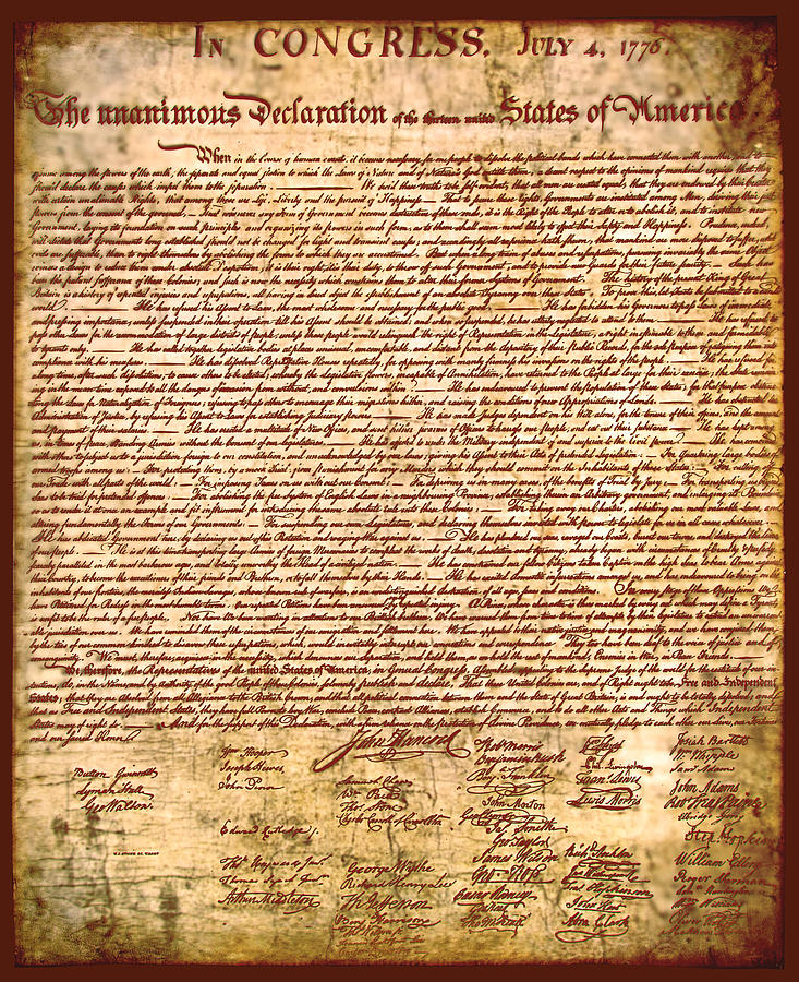 Americas Declaration Of Independence  Photograph