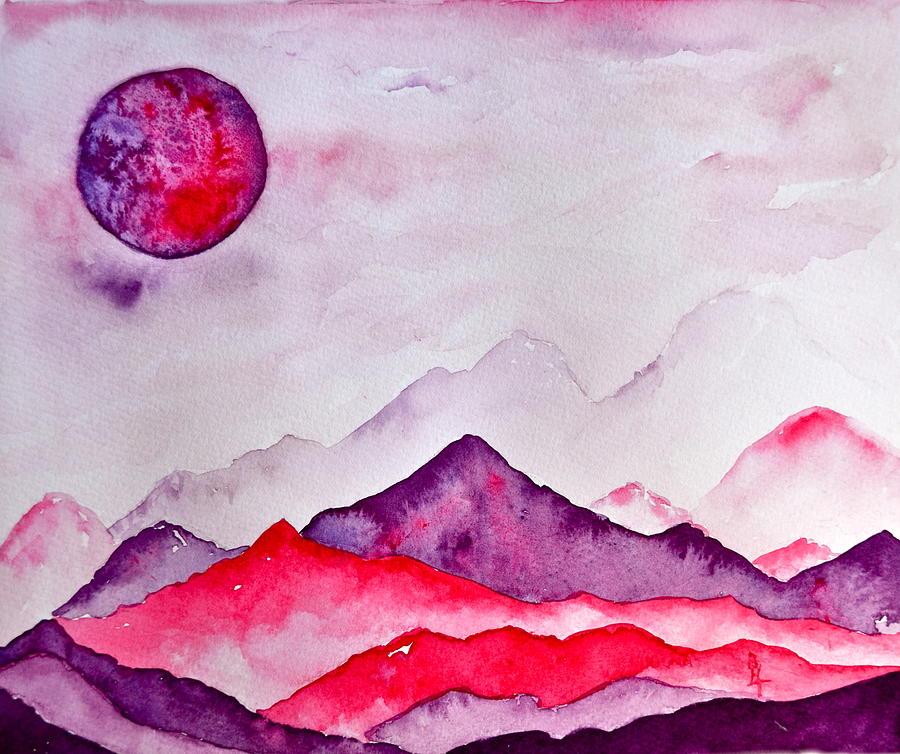 Amethyst Range Painting - Amethyst Range by Beverley Harper Tinsley