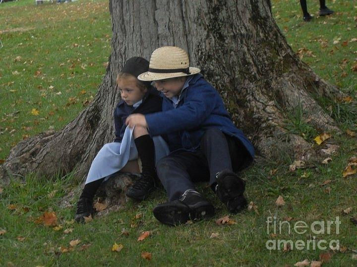 Amish Kids Photograph