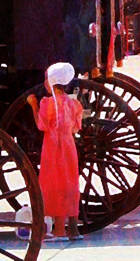 Amish Milk Day II Digital Art  - Amish Milk Day II Fine Art Print