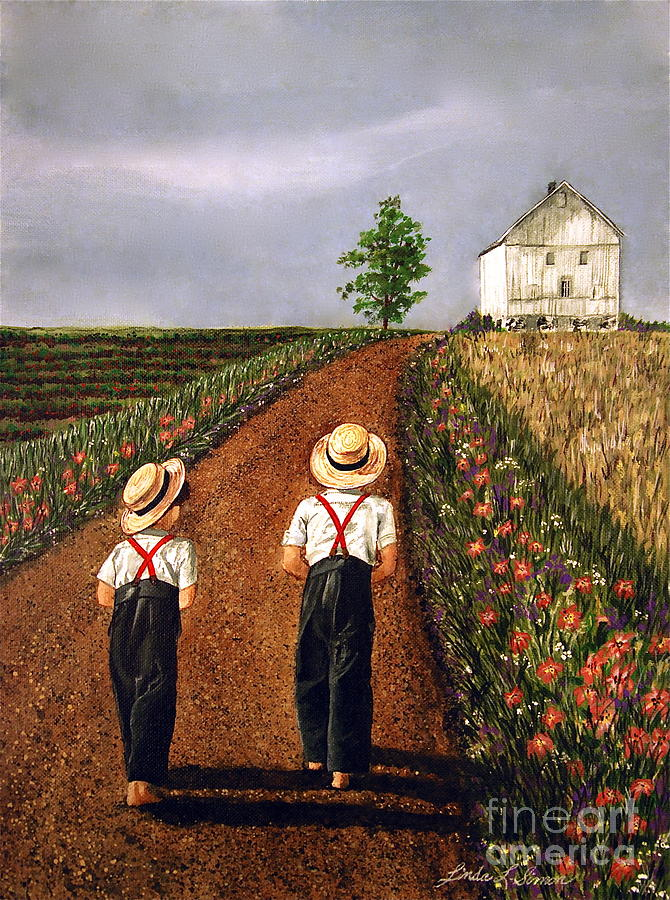 Amish Road Painting