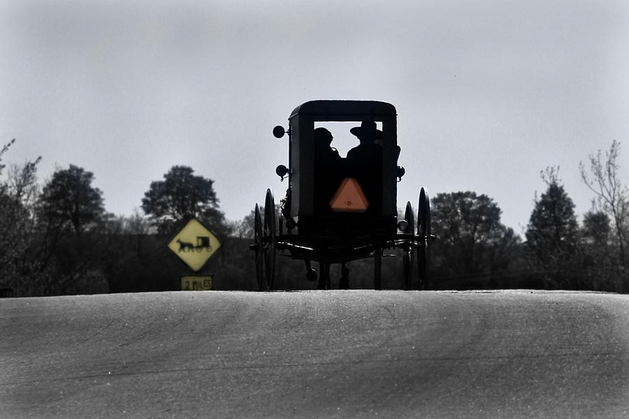Amish Photograph - Amish Road by Mary Burr
