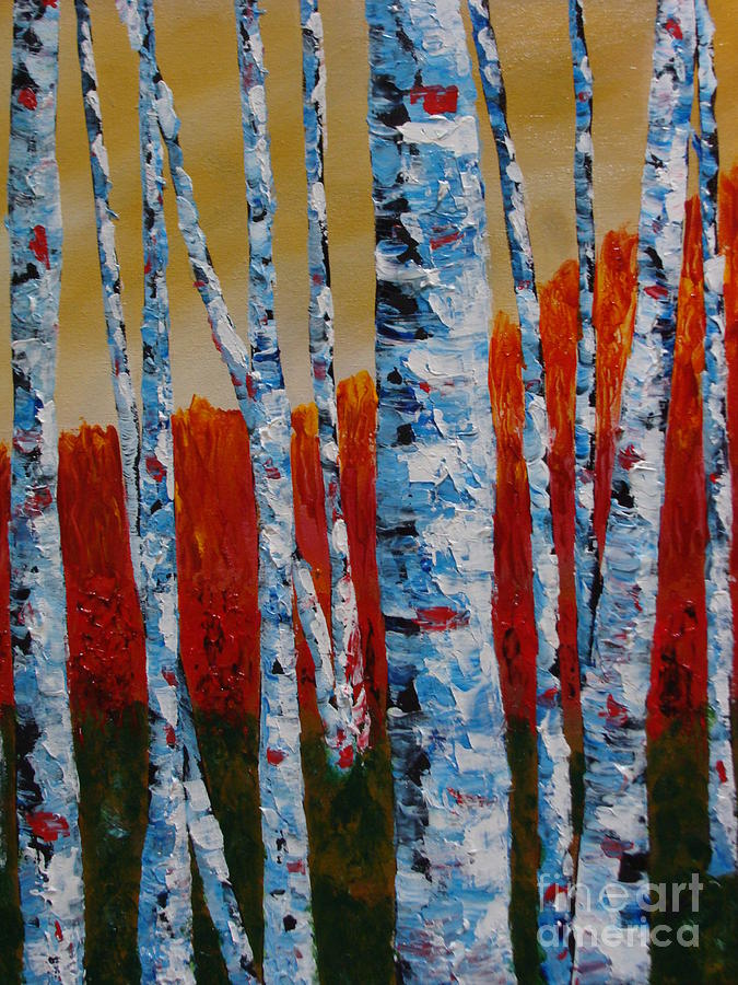Among The Trees 2 Painting  - Among The Trees 2 Fine Art Print
