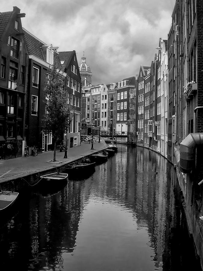 Amsterdam Photograph - Amsterdam Canal by Heather Applegate