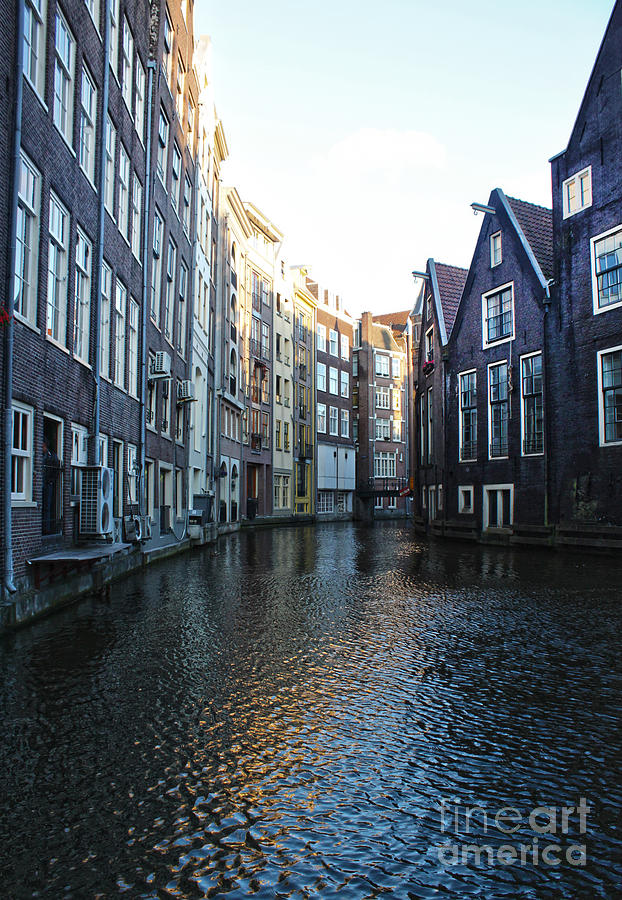 Amsterdam Photograph - Amsterdam Canal View - 01 by Gregory Dyer