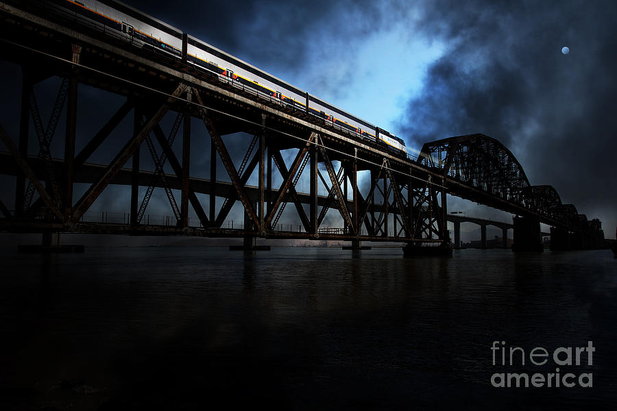 Amtrak Midnight Express - 5d18829 Photograph  - Amtrak Midnight Express - 5d18829 Fine Art Print