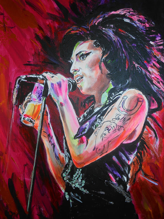 Winehouse Painting Amy Winehouse Art Figures Pinterest