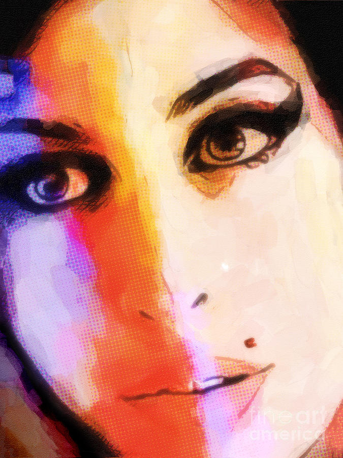 Amy Winehouse Art Painting - Amy Pop-art by Lutz Baar