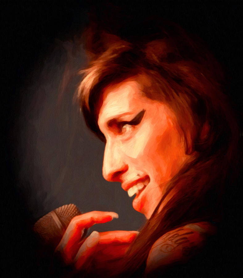 Amy Winehouse Painting  - Amy Winehouse Fine Art Print