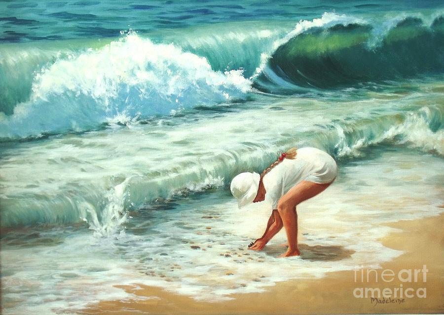 Ocean Paintings Painting - Amys Treasure by Madeleine Holzberg