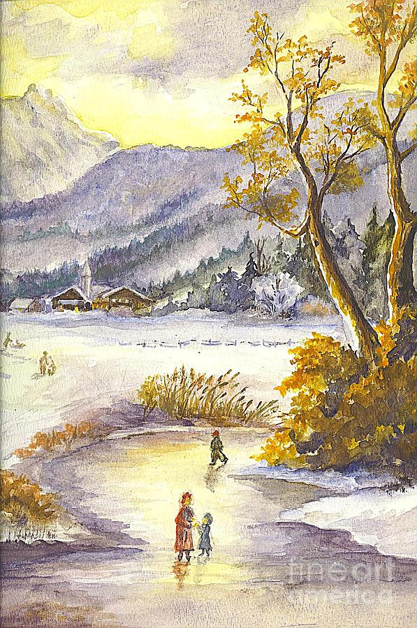 An Alpine Christmas II Painting  - An Alpine Christmas II Fine Art Print