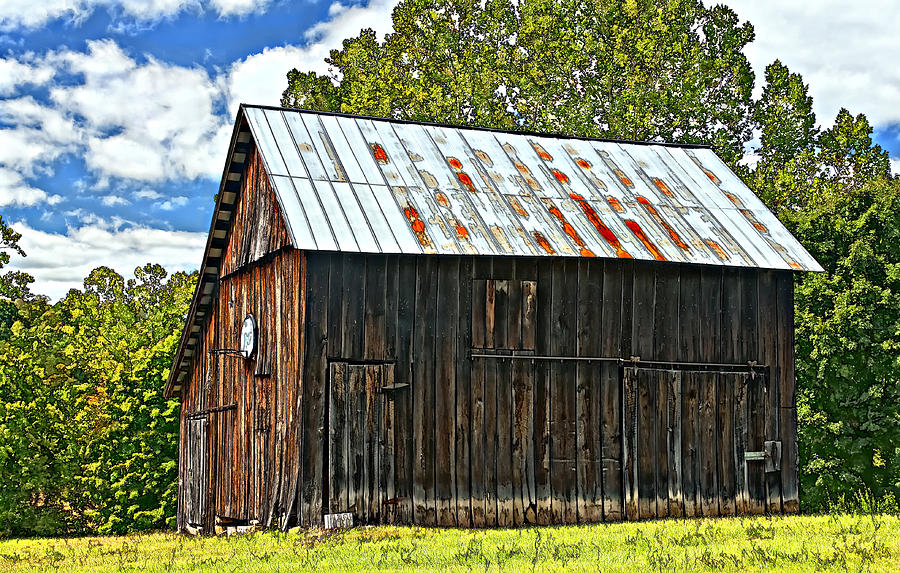 An American Barn 2 Painted Photograph