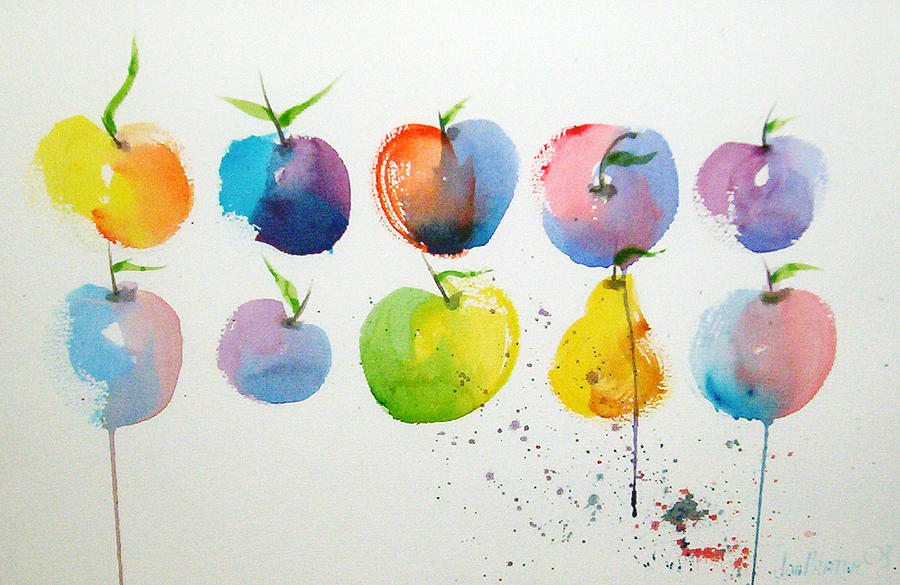 Apples Painting - An Apple A Day by Joe Prater