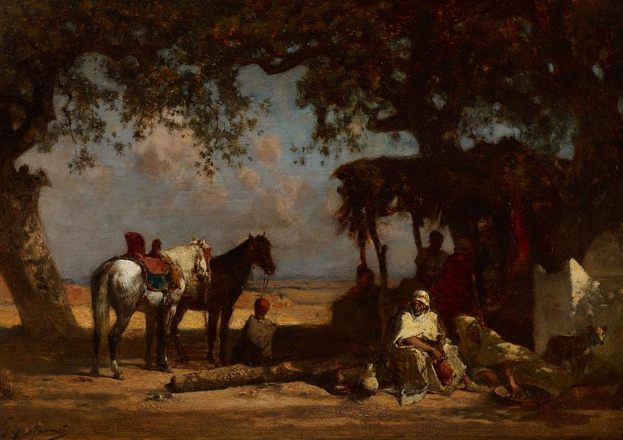 An Arab Encampment Painting