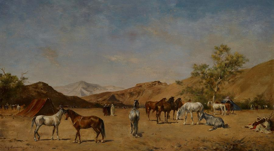 An Arabian Camp Painting