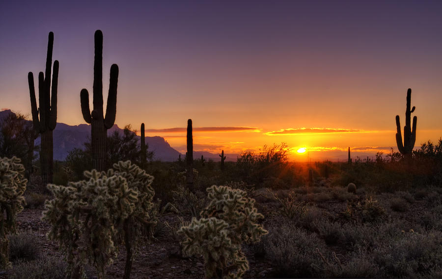 An Arizona Winter Sunrise is a photograph by Saija Lehtonen which was ...