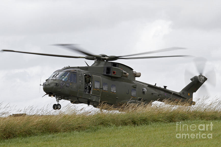 An Aw101 Merlin Helicopter Of The Royal Photograph  - An Aw101 Merlin Helicopter Of The Royal Fine Art Print