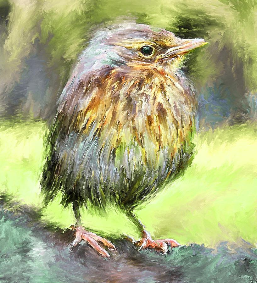 An Early Autumn Bird Digital Art