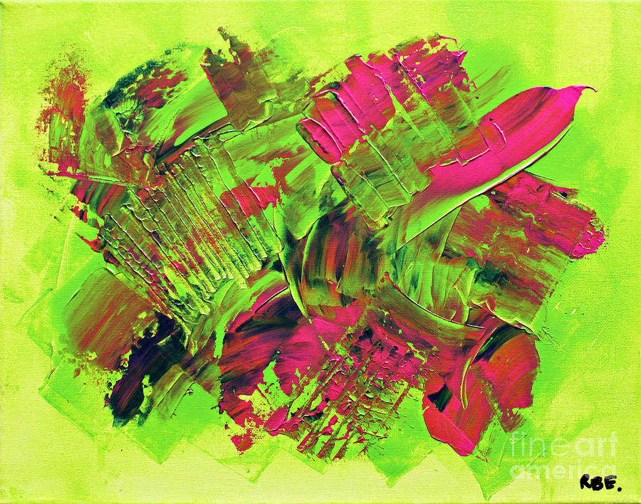 An Energetic Abstraction Painting