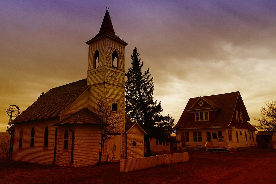 An Old Church In Williston North Dakota  Photograph  - An Old Church In Williston North Dakota  Fine Art Print