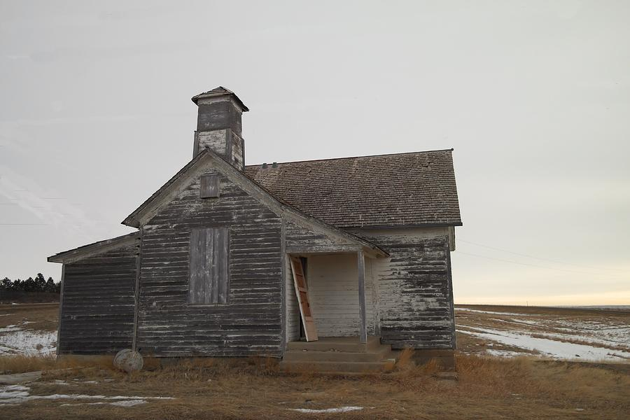 Churches Photograph - An Old Church On The Prairie  by Jeff Swan