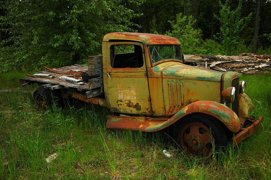 An Old Flatbed Photograph  - An Old Flatbed Fine Art Print