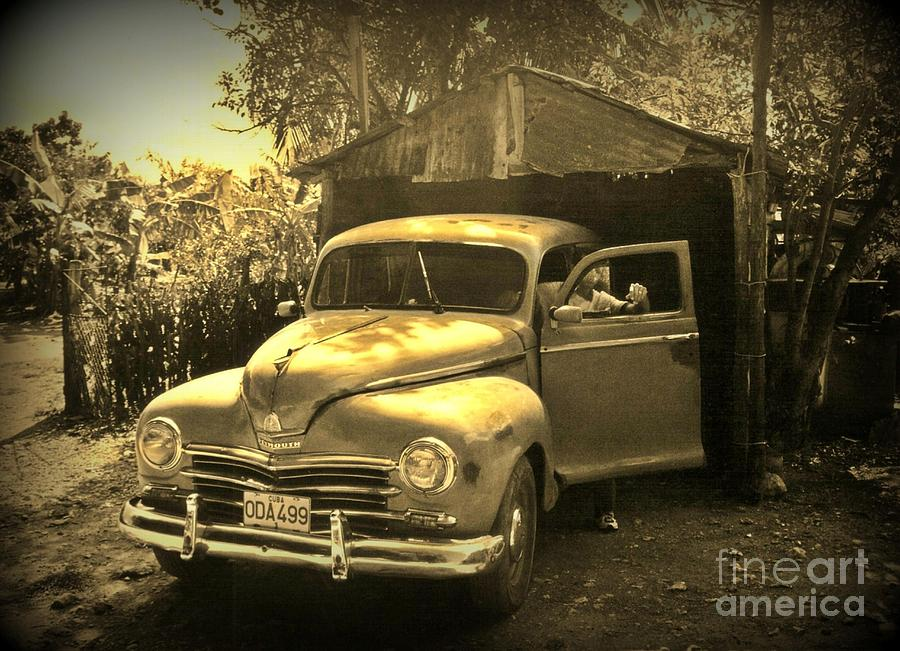 Antique Cars Photograph - An Old Hidden Gem by John Malone