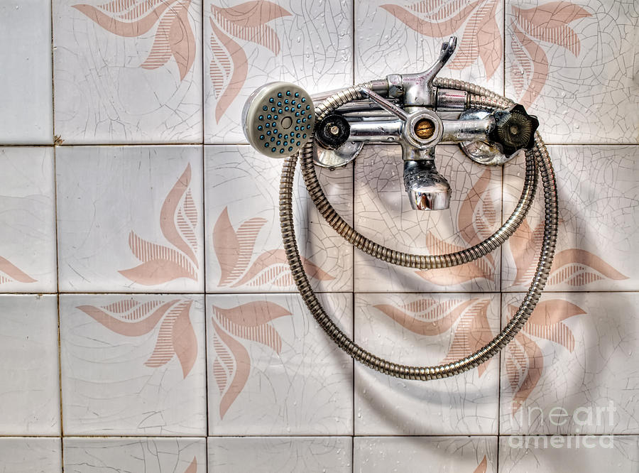 Bath Photograph - An Old Shower by Sinisa Botas