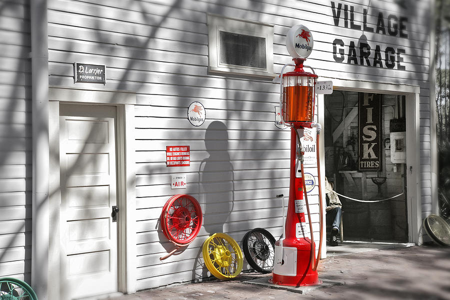 An Old Village Gas Station Photograph  - An Old Village Gas Station Fine Art Print