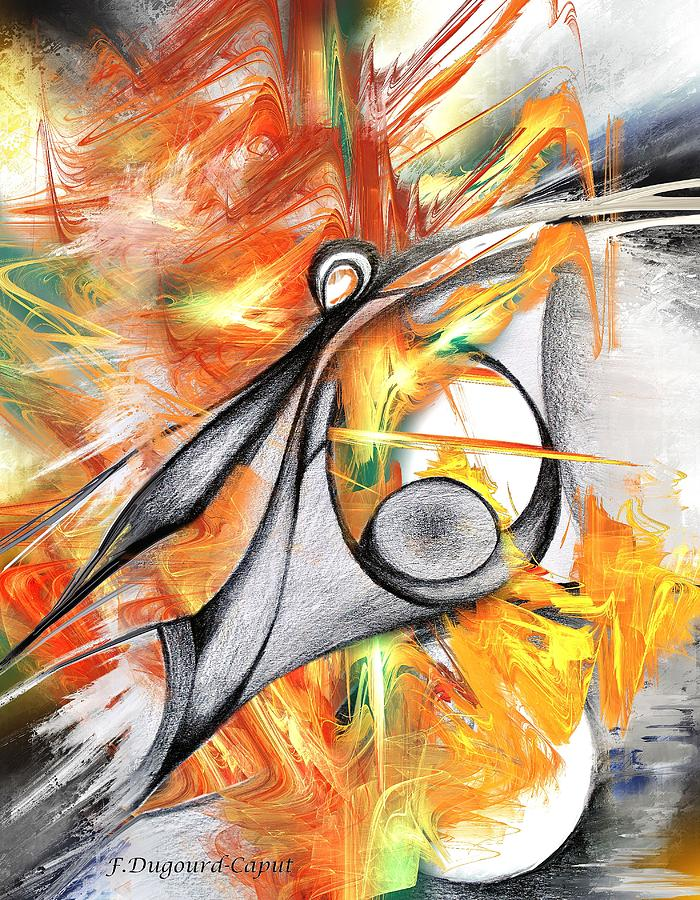 Abstract Drawing - Anagram by Francoise Dugourd-Caput