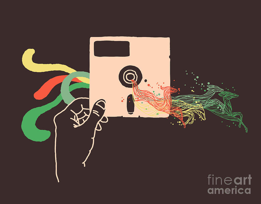 Analog Digital Art  - Analog Fine Art Print