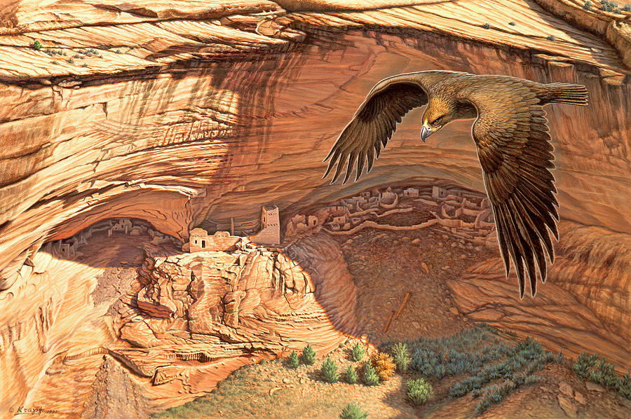 Landscape Painting - Anasazi - Ancient Ones by Paul Krapf