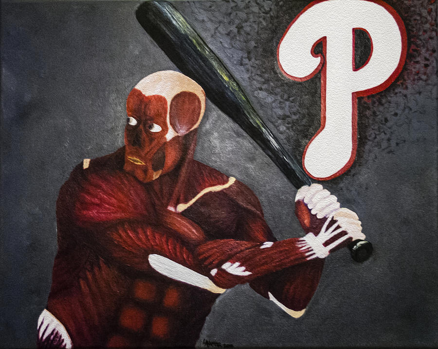 Anatomy At Bat Painting  - Anatomy At Bat Fine Art Print