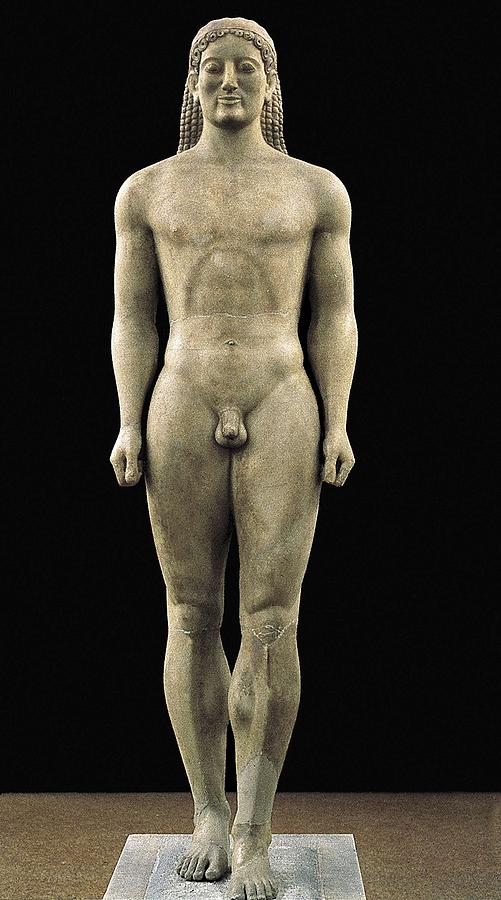 Anavyssos Kouros. Ca.  520 Bc. Archaic Photograph