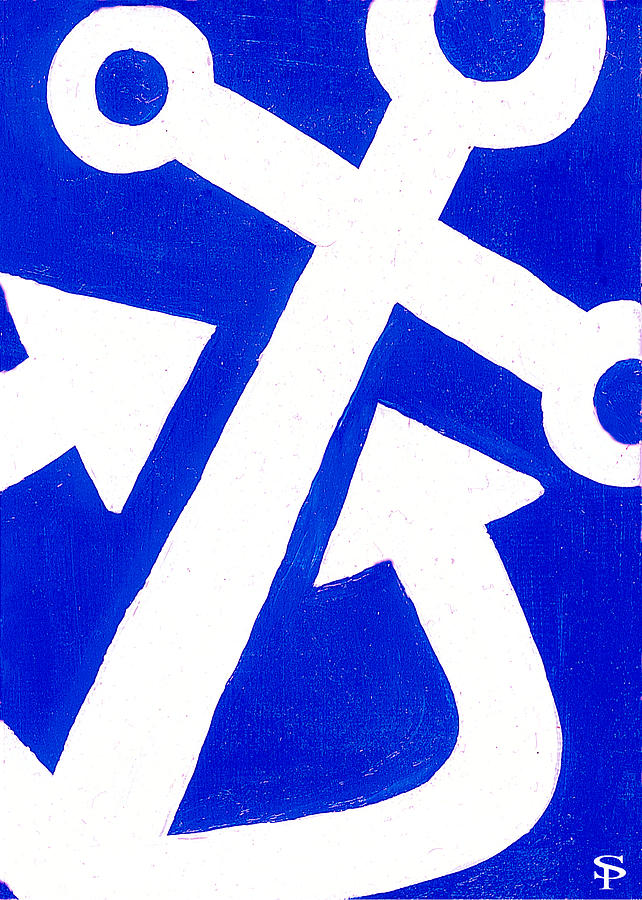 Anchor- Bright Blue Painting