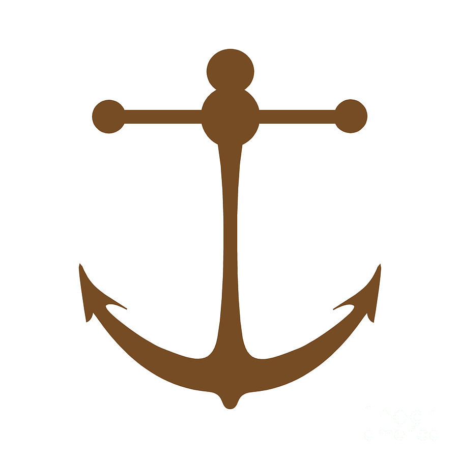 Anchor In Brown And White Photograph By Jackie Farnsworth