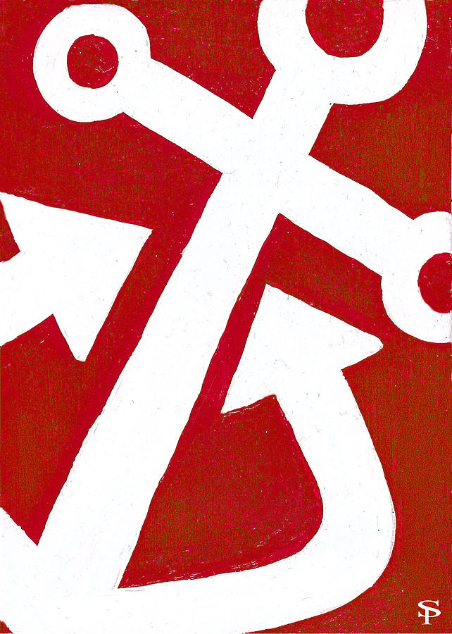Anchor- Red Painting