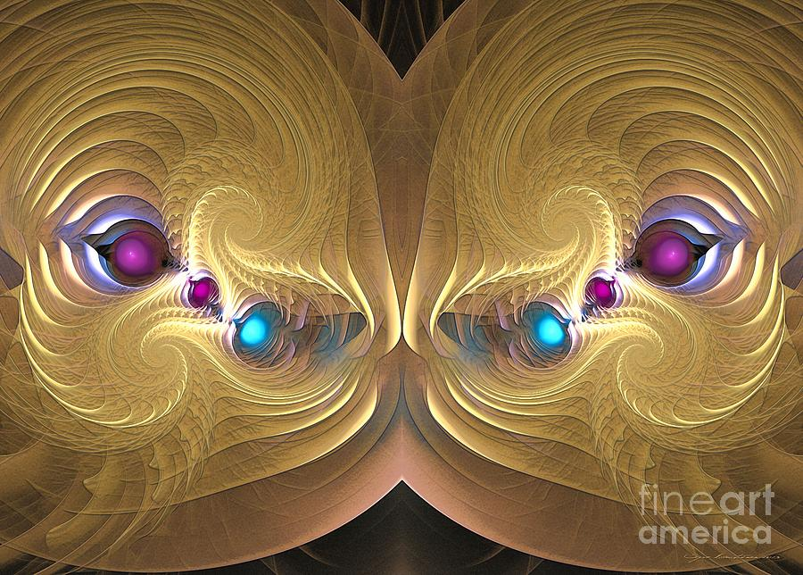 Ancient Honey Digital Art  - Ancient Honey Fine Art Print