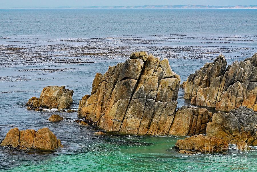 Susan Wiedmann Photograph - Ancient Rocks At Pacific Grove by Susan Wiedmann