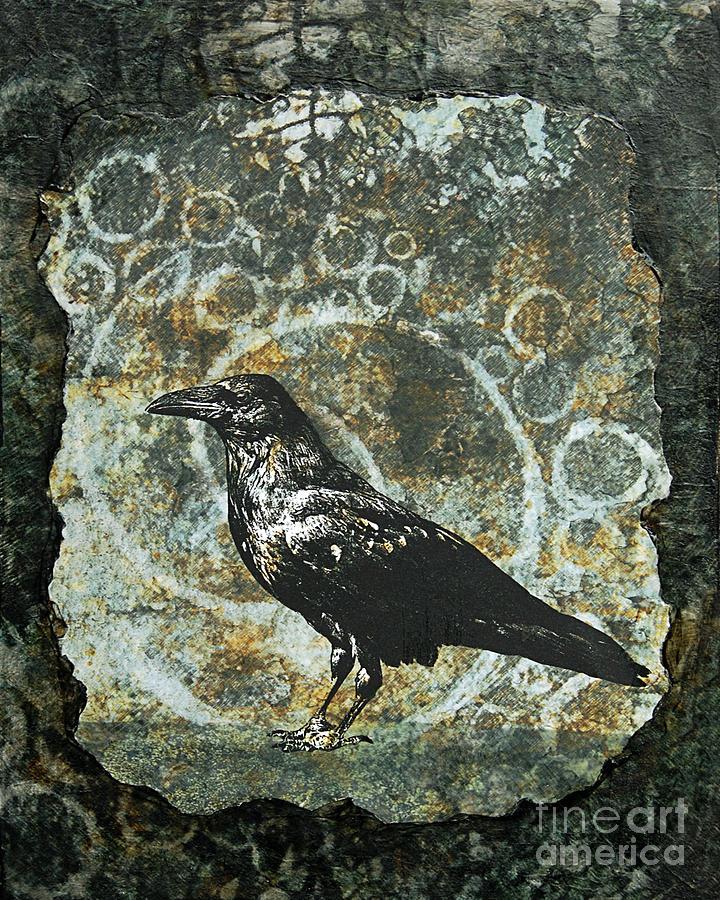 Raven Digital Art - Ancient Spirals by Judy Wood