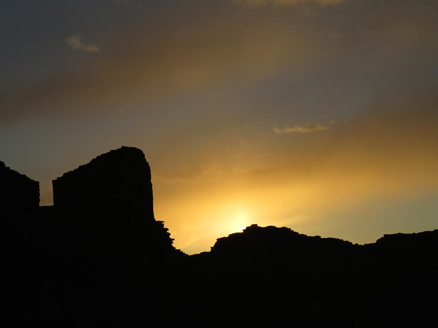 Chaco Photograph - Ancient Walls Against The Sunset by Feva  Fotos