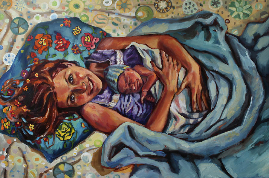 Birth Painting - And You Took To Me Like A Gull Takes To The Wind by Amanda Greavette