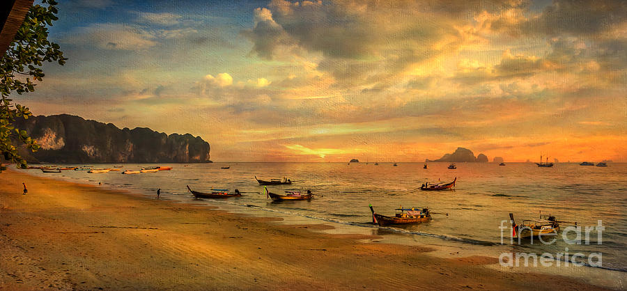 Sunset Photograph - Andaman Sunset by Adrian Evans